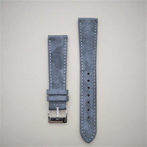 Gray Suede Leather Watch Strap