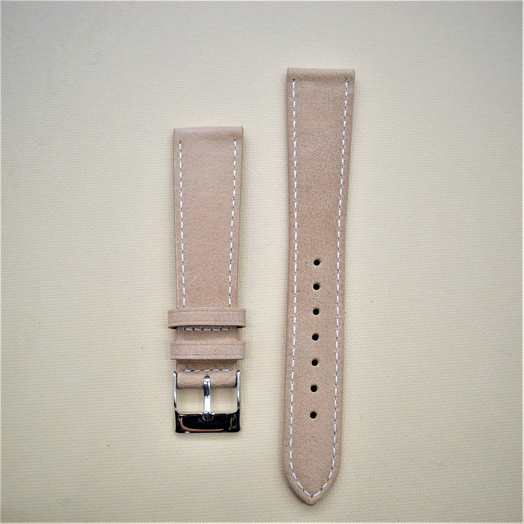 Khaki Tan Smooth Leather Watch Strap