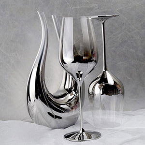 Geraldine Crystal Wine Glasses - MyLegacyBoutique