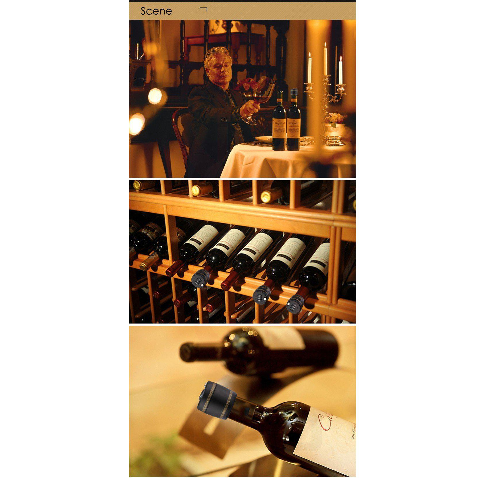 Password Combination Lock Wine Stopper - MyLegacyBoutique