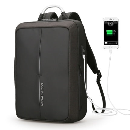 New Anti Theft Backpack USB Recharging - MyLegacyBoutique