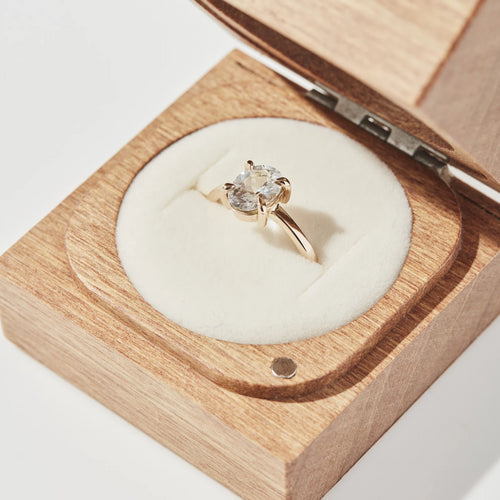 LOW PROFILE SOLITAIRE RING