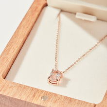 OVAL MORGANITE NECKLACE