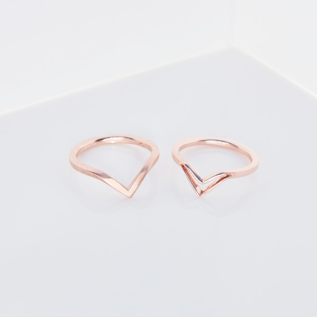 SHALLOW V RING SET