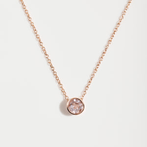 SLIDER MORGANITE NECKLACE