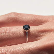 MIDNIGHT SAPPHIRE SOLITAIRE RING