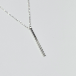 SILVER MONOLITH NECKLACE