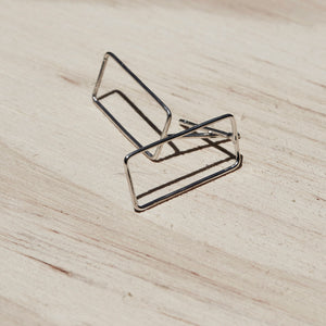 NOT SQUARE STUD EARRINGS
