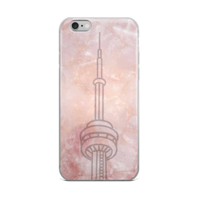 Marble Rose Cn Tower - Premium iPhone Case - Toronto Clothing