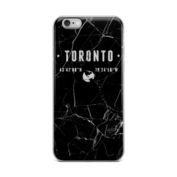 Black Marble Coordinates - Premium iPhone Case - Toronto Clothing