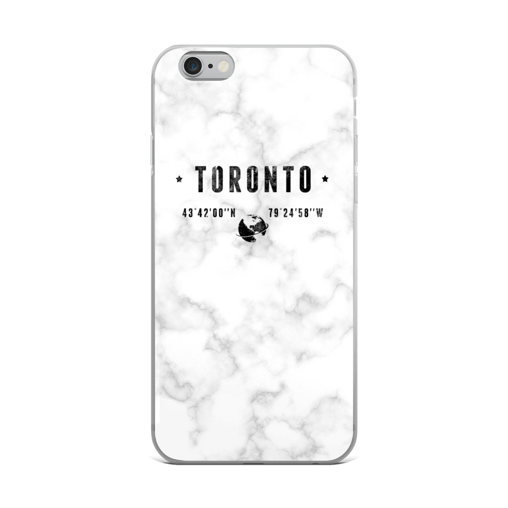 White Marble Coordinates - Premium iPhone Case - Toronto Clothing