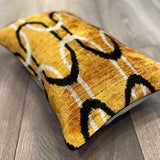 Velvet Ikat Cushion Savannah Sunset | Velvet Ikat Pillow Savannah Sunset