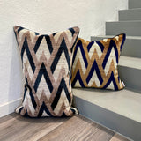Velvet Ikat Cushion Sand Castle | Velvet Ikat Pillow Sand Castle