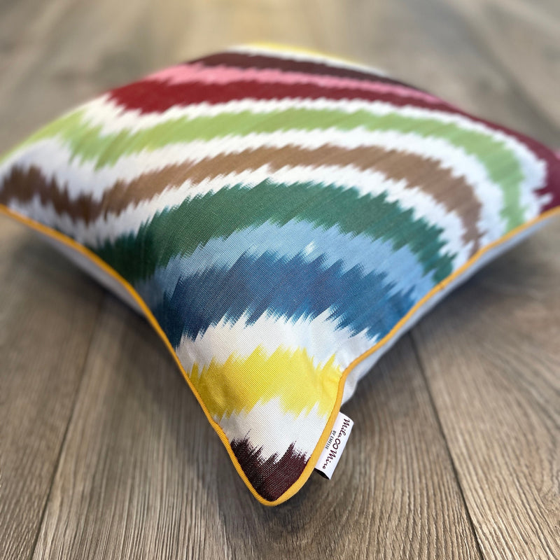 Silk Ikat Cushion Happy Flow | Silk Ikat Happy Flow