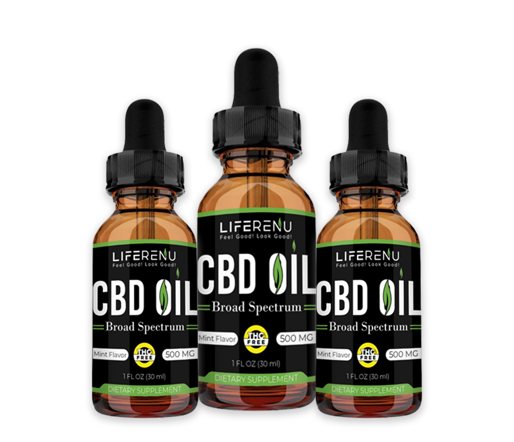 LIFE RENU CBD OIL - 3 Bottles