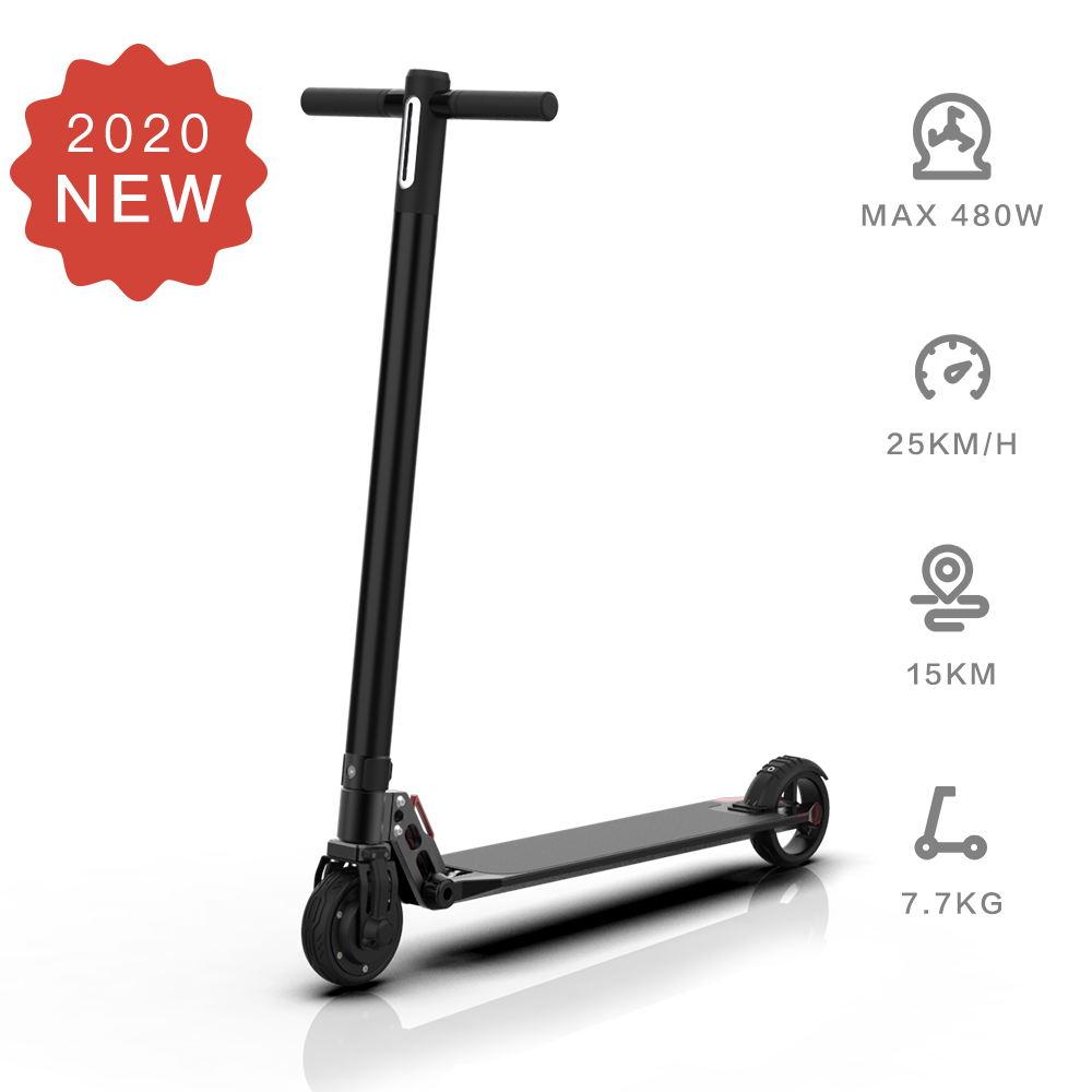 Electric Scooter  6.5inch wheels Foldable City E-Roller Black
