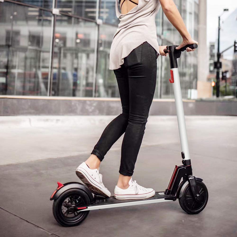 Electric Scooter 8.5 inch wheels Foldable City E-Roller White