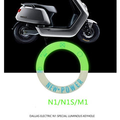 Luminous Keyhole Turning Refit Parts for Niu Scooter M-Series