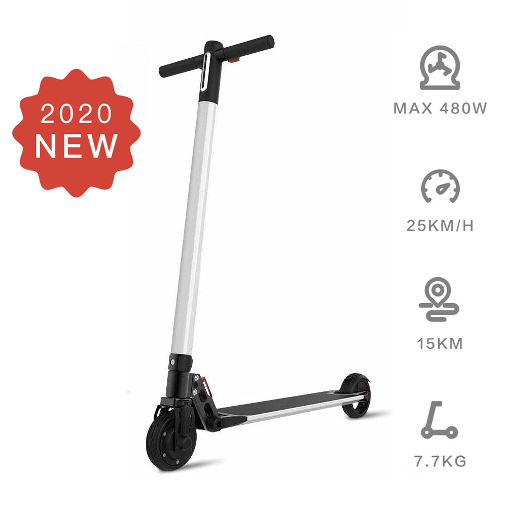 Electric Scooter  6.5inch wheels Foldable City E-Roller White