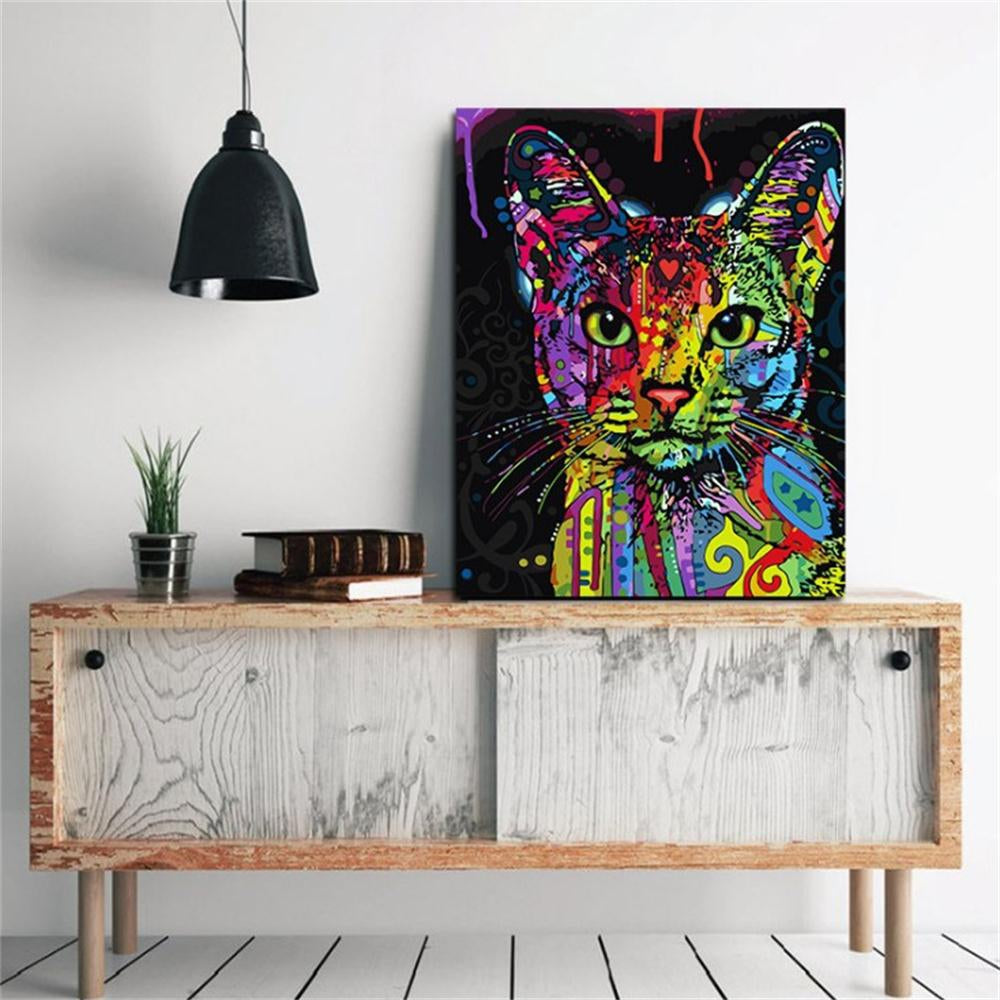 Cat Modelling Modern Living Room Contracted Animal Drawing