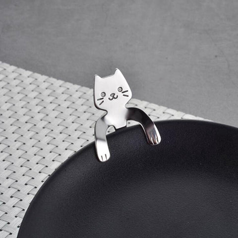Image of 1Pcs Stainless Steel Cat Coffee Drink Spoon Tableware Kitchen Supplies