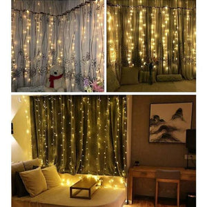 TG Window Curtain Icicle Lights