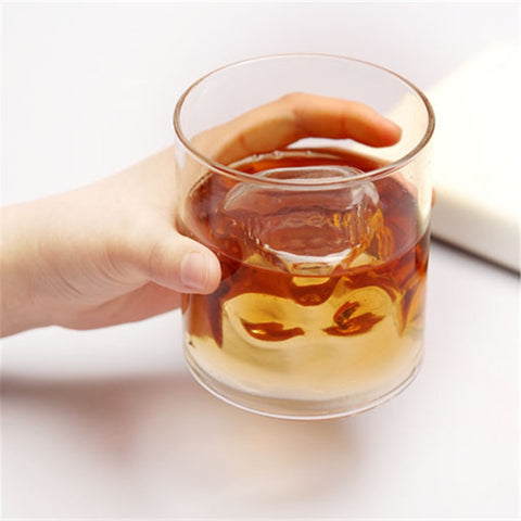 25ML Magic Transparent Glass Skull Mugs Coffee Cups