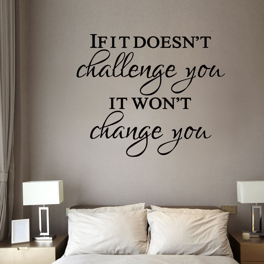 Inspirational Motto Wall Sticker For Home Decoration Waterproof Removable Decals
