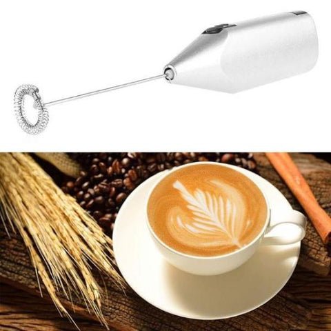 Image of Kitchen Electric Handle Coffee Milk Egg Beater Frother Cream Foamer Cappuccino