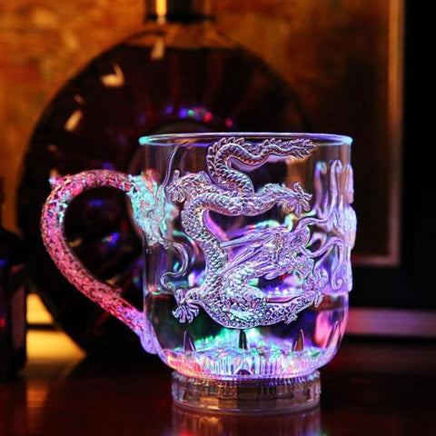 Colorful Luminous LED Induction Magic Cup Water Injection Induced Luminescence 285ml