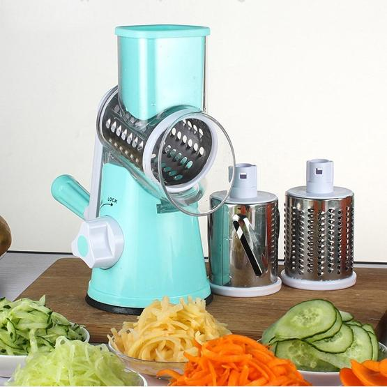 Drum-type Hand-operated Vegetable Shredder Device