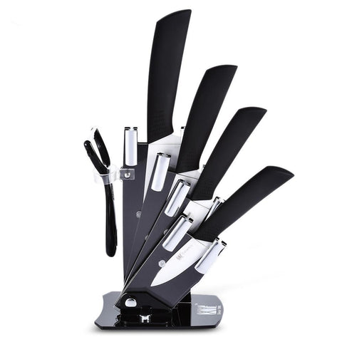 6 in 1 Ceramic Knives Kit with Peeler Holder