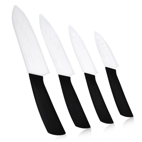 xyj 6 in 1 Sharp Kitchen Ceramic Knives Kit with Peeler Holder