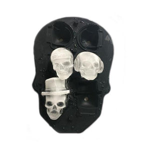 3D Silicone Unique 6 Skull Ice Cubes