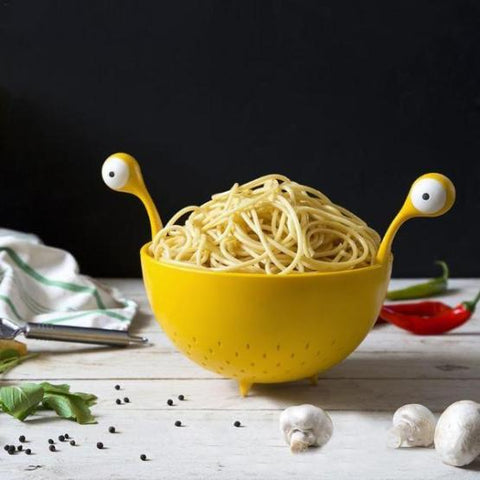 Image of Spaghetti Monster Colander Strainer Colander/Strainer Steel Grid Fruit Basket Kitchen Washing Basin