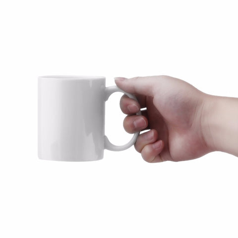 Image of Creative White Middle Finger Style Cup Novelty Mixing Coffee Milk Cup Funny Ceramic Mug Enough Capacity Water Cup Drop Shipping