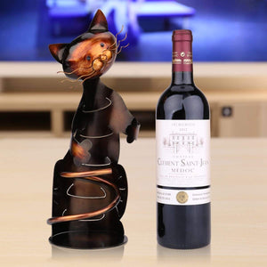 Cute Kitty Hand Made Wine Rack