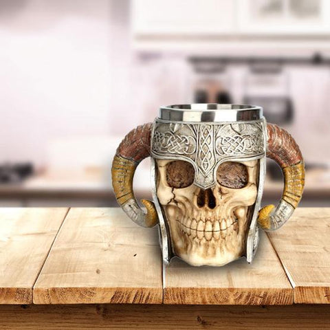 Viking Horned Skull Mug