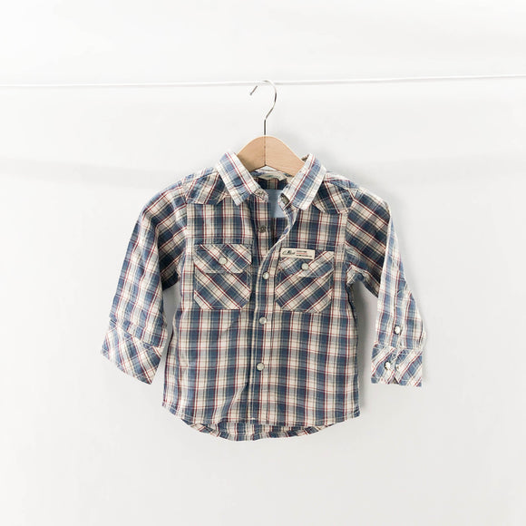 Country Road - Long Sleeve Button (6-12M) - Beeja May