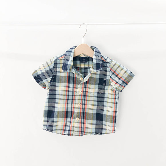 Gap - Short Sleeve Button (6-12M) - Beeja May