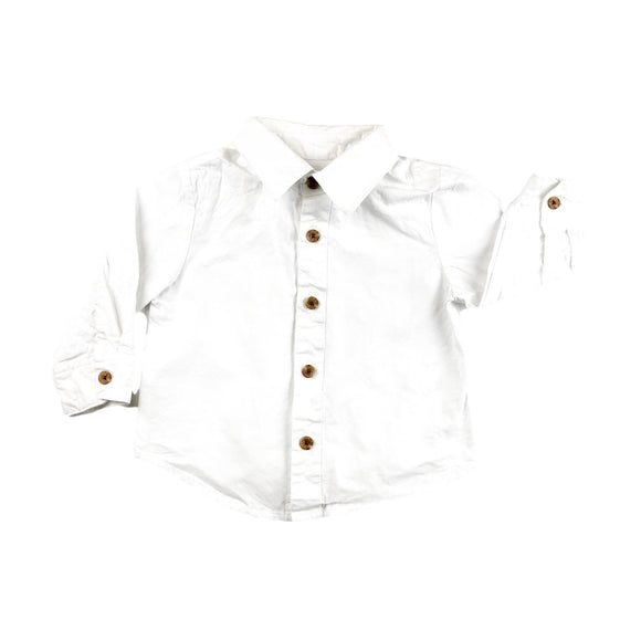Little Brother - Long Sleeve Button (6-9M) - Beeja May
