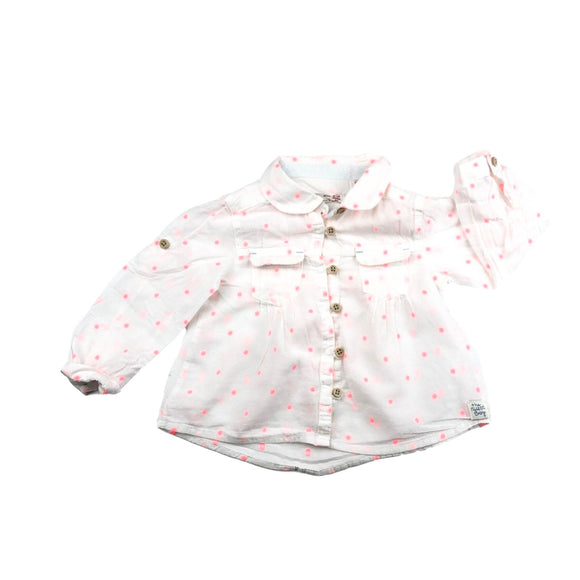 Zara  - Long Sleeve Button (9-12M) - Beeja May