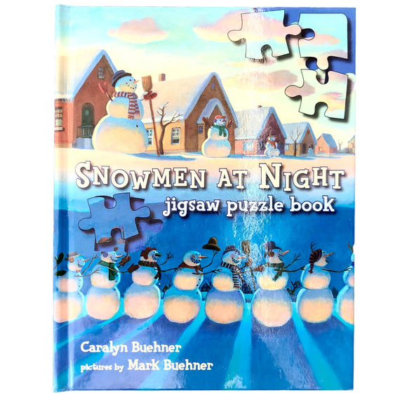 Snowmen at Night Jigsaw Puzzle Book - (Caralyn Buehner/Mark Buehner) - Beeja May