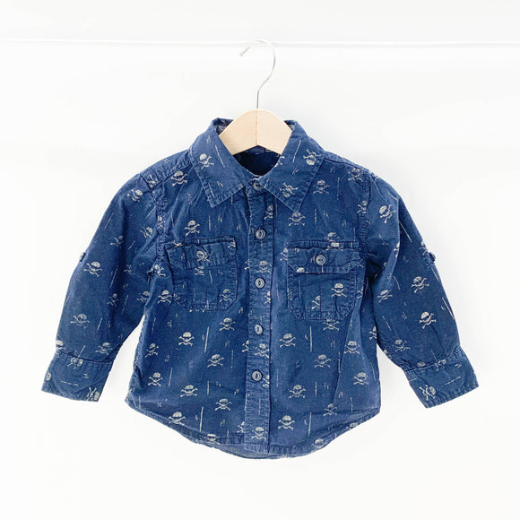 Gap - Long Sleeve Button (12-18M) - Beeja May