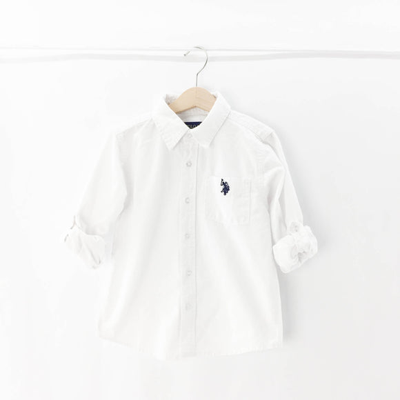 U.S. Polo Assn. - Long Sleeve Button (5-6Y) - Beeja May