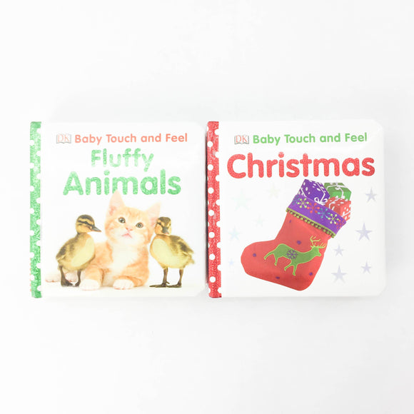 2-pack - Baby Touch And Feel - Christmas + Fluffy Animals - (na) - Beeja May