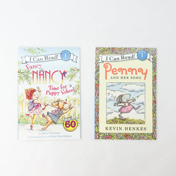 I Can Read! Fancy Nancy Time for Puppy School + Penny and Her Song (Beginning 1 Reading) - (Kevin Henkes/Jane O'Connor/Robin Preiss Glasser) - Beeja May