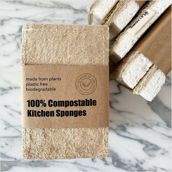 Compostable Dish Sponges (2-Pack) Essence of Life (Toronto, Ontario)