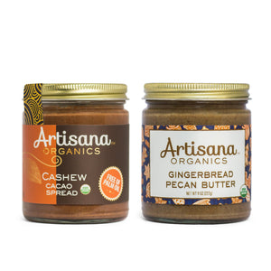 Holiday Duo - Gingerbread and Cashew Cacao