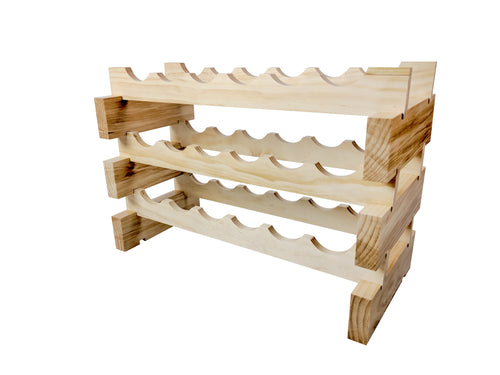18 bottle modular stackable wine rack